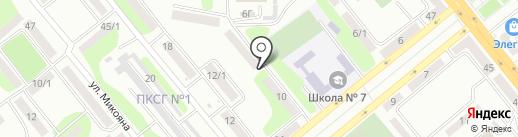 Киоск по ремонту обуви на карте Усть-Каменогорска