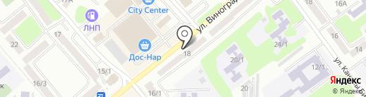Огонек на карте Усть-Каменогорска