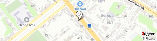 Участковый пункт полиции №10 на карте Усть-Каменогорска