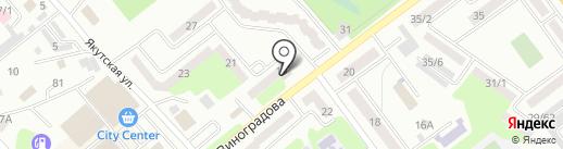 Нотариус Чакпантаева Г.М. на карте Усть-Каменогорска