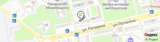 Магазин швейной фурнитуры на карте Усть-Каменогорска