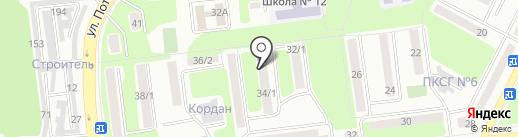 Компания по кровельным работам на карте Усть-Каменогорска