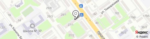Улан на карте Усть-Каменогорска