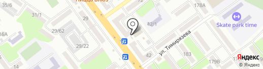Киоск по продаже цветов на карте Усть-Каменогорска