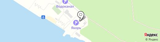 Зеленый бор на карте Борового