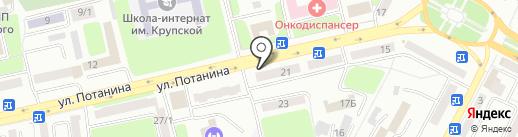 Тариша на карте Усть-Каменогорска