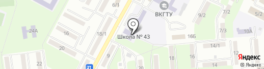 Школа-гимназия №43 им. К. Нургалиева на карте Усть-Каменогорска