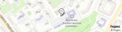 Автостоянка на карте Усть-Каменогорска