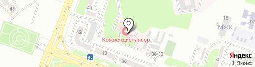 Восточно-Казахстанский областной кожно-венерологический диспансер на карте Усть-Каменогорска