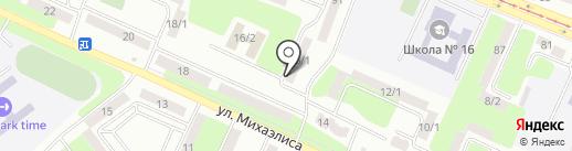 Изумруд на карте Усть-Каменогорска