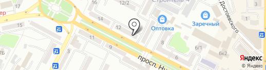 Нотариус Мухамедкаирова А.Б. на карте Усть-Каменогорска