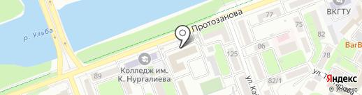 Компания Стальной Партнер, ТОО на карте Усть-Каменогорска