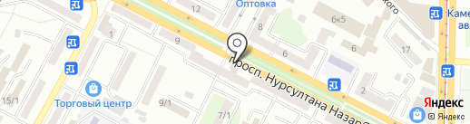 Вест на карте Усть-Каменогорска