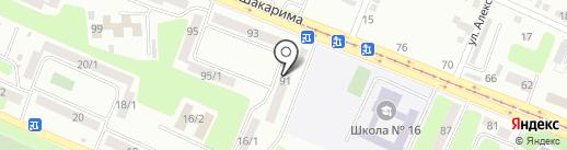 Продовольственный магазин на карте Усть-Каменогорска