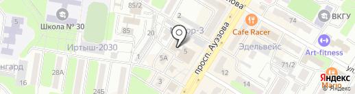 Дельфин-2 на карте Усть-Каменогорска