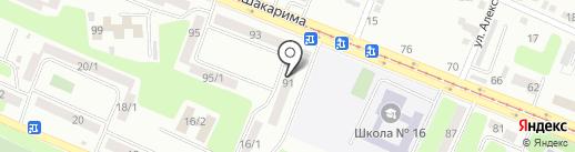Анталия на карте Усть-Каменогорска