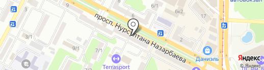 X2X на карте Усть-Каменогорска