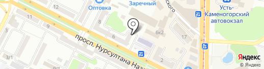 Птица на карте Усть-Каменогорска