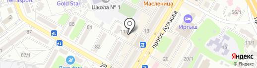 Салон-ателье на карте Усть-Каменогорска