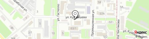 Трусов И.В. на карте Усть-Каменогорска
