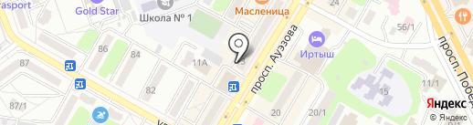 Книжный магазин на карте Усть-Каменогорска