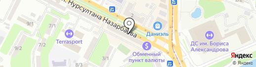 Банкомат, Альфа-Банк, филиал в г. Усть-Каменогорске на карте Усть-Каменогорска