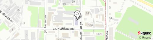 Военно-техническая школа Министерства обороны РК на карте Усть-Каменогорска