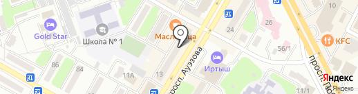 Косметичка на карте Усть-Каменогорска