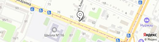 Авточаг на карте Усть-Каменогорска