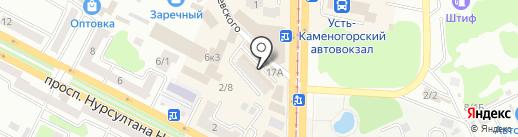 Сымбат на карте Усть-Каменогорска