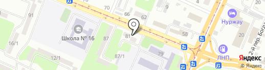 Почтовое отделение №2 на карте Усть-Каменогорска