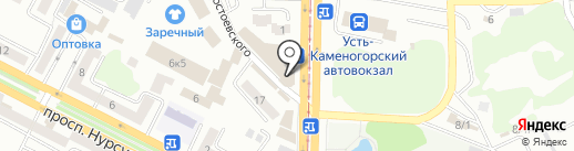 Эльф на карте Усть-Каменогорска