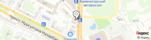 Киоск фастфудной продукции на карте Усть-Каменогорска