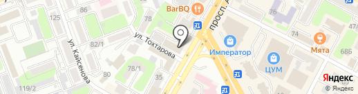Ак-Кем на карте Усть-Каменогорска