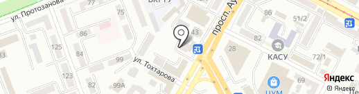 Янтарь на карте Усть-Каменогорска