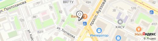 Массажный кабинет на карте Усть-Каменогорска