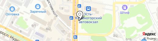 АС на карте Усть-Каменогорска