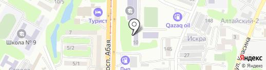 Усть-Каменогорский колледж сферы обслуживания на карте Усть-Каменогорска