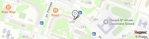 Сәби на карте Усть-Каменогорска