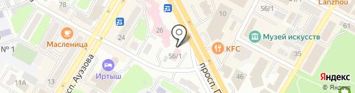 Олимп на карте Усть-Каменогорска
