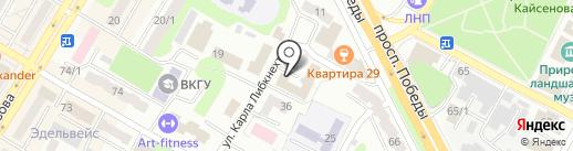 Болашак на карте Усть-Каменогорска