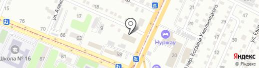 Медико-социальная экспертная комиссия №2 на карте Усть-Каменогорска