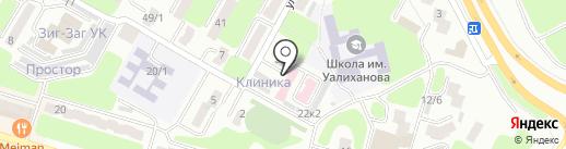 Нур-тирек, ОО на карте Усть-Каменогорска