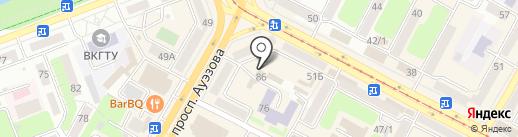 Участковый пункт полиции №1 на карте Усть-Каменогорска