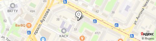 Сеть торговых точек по реализации продукции стабилизационного фонда на карте Усть-Каменогорска