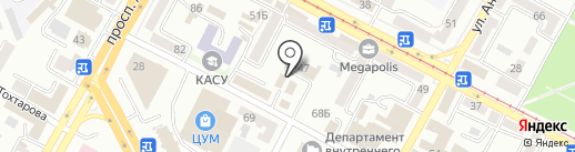 Мадам Ирени на карте Усть-Каменогорска