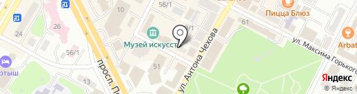 Геотур на карте Усть-Каменогорска