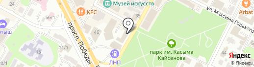 Отдел земельных отношений и сельского хозяйства г. Усть-Каменогорска на карте Усть-Каменогорска