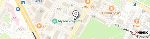 Колодец Дракона на карте Усть-Каменогорска