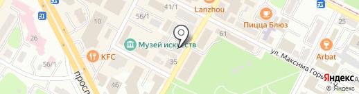 Нотариус Шеховец Е.Г. на карте Усть-Каменогорска